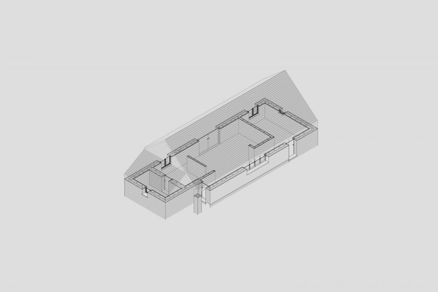 Technical drawing of the Warren Lodge project by Studio Bark