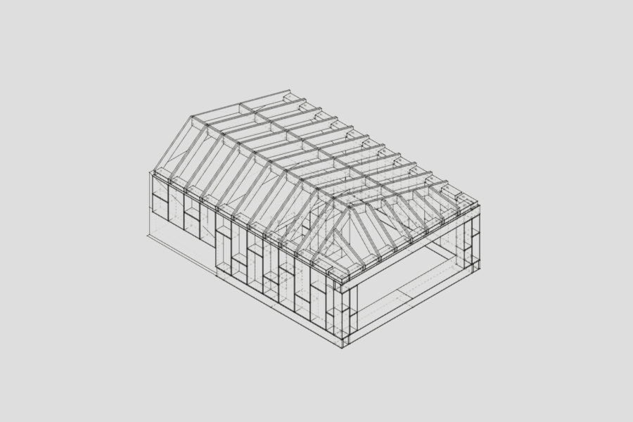 Technical drawings for the Mill Lane extension built the with U-Build system